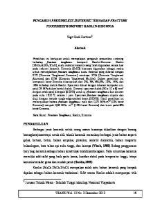 PENGARUH PRESURELESS SINTERING TERHADAP FRACTURE TOUGHNESS KOMPOSIT KAOLIN-ZIRCONIA. Sigit Budi Hartono 1. Abstrak