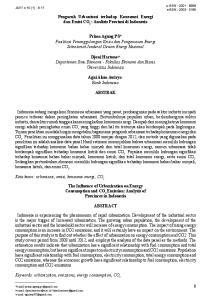 Pengaruh Urbanisasi terhadap Konsumsi energi dan emisi Co 2. : Analisis Provinsi di Indonesia
