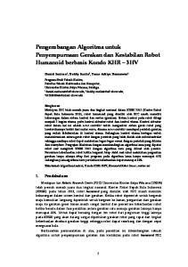 Pengembangan Algoritma untuk Penyempurnaan Gerakan dan Kestabilan Robot Humanoid berbasis Kondo KHR 3HV