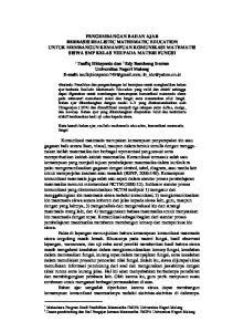 PENGEMBANGAN BAHAN AJAR BERBASIS REALISTIC MATHEMATIC EDUCATION UNTUK MEMBANGUN KEMAMPUAN KOMUNIKASI MATEMATIS SISWA SMP KELAS VIII PADA MATERI FUNGSI