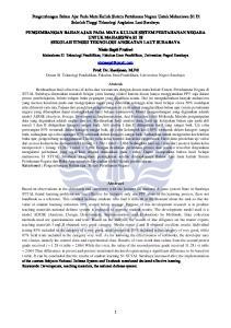 Pengembangan Bahan Ajar Pada Mata Kuliah Sistem Pertahanan Negara Untuk Mahasiswa S1 Di Sekolah Tinggi Teknologi Angkatan Laut Surabaya