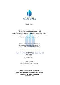 PENGEMBANGAN KAMPUS UNIVERSITAS MULTIMEDIA NUSANTARA