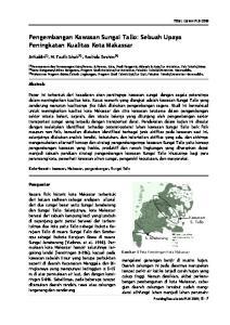 Pengembangan Kawasan Sungai Tallo: Sebuah Upaya Peningkatan Kualitas Kota Makassar