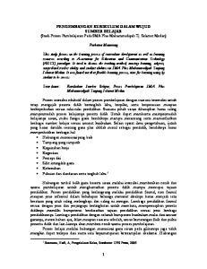 PENGEMBANGAN KURIKULUM DALAM WUJUD SUMBER BELAJAR (Studi Proses Pembelajaran Pada SMA Plus Muhammadiyah Tj. Selamat Medan) Purbatua Manurung
