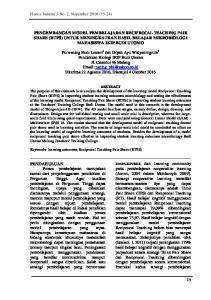 PENGEMBANGAN MODEL PEMBELAJARAN RECIPROCAL TEACHING PAIR SHARE (RTPS) UNTUK MENINGKATKAN HASIL BELAJAR MIKROBIOLOGI MAHASISWA IKIP BUDI UTOMO