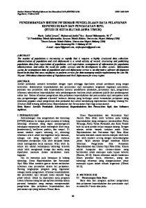 PENGEMBANGAN SISTEM INFORMASI PENGELOLAAN DATA PELAYANAN KEPENDUDUKAN DAN PENCACATAN SIPIL (STUDI DI KOTA BLITAR JAWA TIMUR)