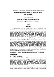 PENGENDALIAN INTERN PERSEDIAAN BAHAN BAKU UNTUK KELANCARAN PRODUKSI PADA PT. GRAPHIKA BETON EVA SELVIANTI ( )