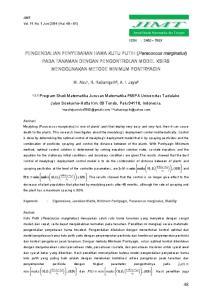 PENGENDALIAN PENYEBARAN HAMA KUTU PUTIH (Paracoccus marginatus) PADA TANAMAN DENGAN PENGONTROLAN MODEL KSIRS MENGGUNAKAN METODE MINIMUM PONTRYAGIN