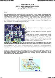 PENGGUNAAN VSAT UNTUK WIDE AREA NETWORK (WAN) Oleh : Lilik Eko Nuryanto, Ir. Dosen TI - STMIK Dian Nuswantoro Semarang