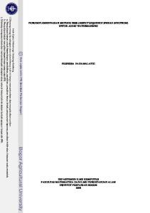 PENGIMPLEMENTASIAN METODE DSSS (DIRECT SEQUENCE SPREAD SPECTRUM) UNTUK AUDIO WATERMARKING FERNISSA FAHAMALATHI