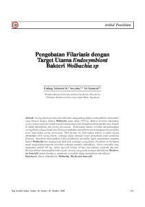 Pengobatan Filariasis dengan Target Utama Endosymbiont Bakteri Wolbachia sp