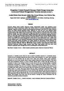 Pengolahan Limbah Domestik Kawasan Pesisir Dengan Subsurface Constructed Wetland Menggunakan Tanaman Jatropha curcas L