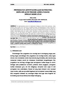 PENINGKATAN AKTIVITAS BELAJAR MATEMATIKA SISWA KELAS XII TKR SMK ADZKIA PADANG DENGAN MODEL STAD