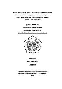 PENINGKATAN KEMAMPUAN MENULIS PARAGRAF DESKRIPSI SISWA KELAS X.3 SMA MUHAMMADIYAH 1 PEKAJANGAN
