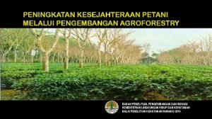 PENINGKATAN KESEJAHTERAAN PETANI MELALUI PENGEMBANGAN AGROFORESTRY