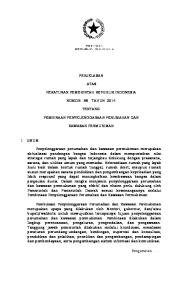 PENJELASAN ATAS PERATURAN PEMERINTAH REPUBLIK INDONESIA NOMOR 88 TAHUN 2014 TENTANG PEMBINAAN PENYELENGGARAAN PERUMAHAN DAN KAWASAN PERMUKIMAN