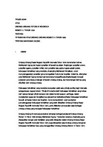 PENJELASAN ATAS UNDANG-UNDANG REPUBLIK INDONESIA NOMOR 5 TAHUN 2004 TENTANG PERUBAHAN ATAS UNDANG-UNDANG NOMOR 14 TAHUN 1985 TENTANG MAHKAMAH AGUNG