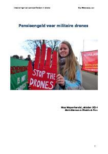 Pensioengeld voor militaire drones