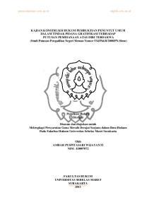 Penulisan Hukum (Skripsi)
