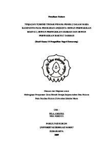 Penulisan Hukum. (Studi Kasus Di Pengadilan Negeri Semarang)