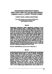 PENURUNAN KANDUNGAN RESIDU INSEKTISIDA DIMETOAT DALAM CABAI MERAH (Capsicum annum L.) AKIBAT IRADIASI GAMMA