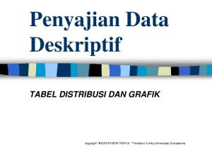 Penyajian Data Deskriptif