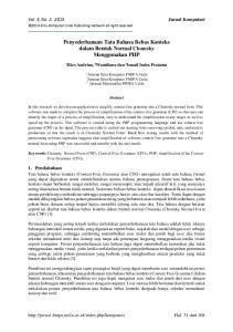 Penyederhanaan Tata Bahasa Bebas Konteks dalam Bentuk Normal Chomsky Menggunakan PHP