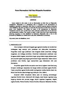 Peran Dharmaduta Abdi Desa Ehipassiko Foundation