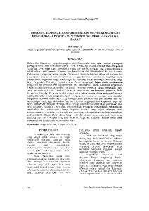 PERAN FUNGSIONAL ARSIPARIS DALAM MENDUKUNG TUGAS FUNGSI BALAI PENGKAJIAN TEKNOLOGI PERTANIAN JAWA BARAT
