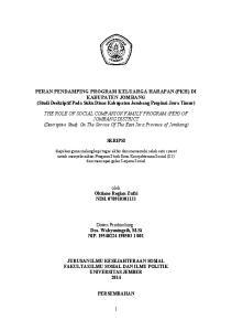 PERAN PENDAMPING PROGRAM KELUARGA HARAPAN (PKH) DI KABUPATEN JOMBANG (Studi Deskriptif Pada Suku Dinas Kabupaten Jombang Propinsi Jawa Timur)