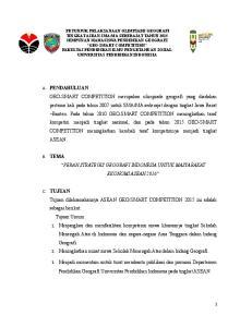 PERAN STRATEGIS GEOGRAFI INDONESIA UNTUK MASYARAKAT EKONOMI ASEAN 2016