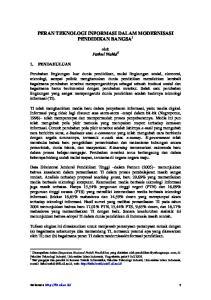 PERAN TEKNOLOGI INFORMASI DALAM MODERNISASI PENDIDIKAN BANGSA 1