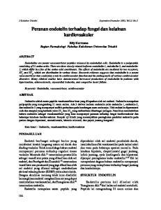 Peranan endotelin terhadap fungsi dan kelainan kardiovaskuler