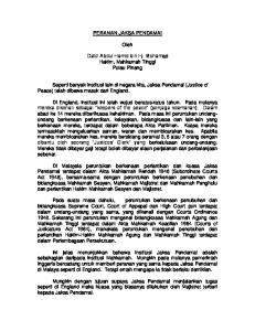 PERANAN JAKSA PENDAMAI. Oleh. Dato Abdul Hamid bin Hj. Mohamad Hakim, Mahkamah Tinggi Pulau Pinang