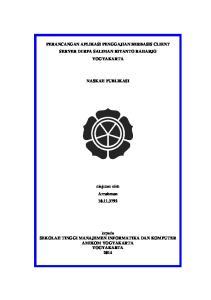 PERANCANGAN APLIKASI PENGGAJIAN BERBASIS CLIENT SERVER DI RPA SALIMAN RIYANTO RAHARJO YOGYAKARTA NASKAH PUBLIKASI. diajukan oleh Arrahman