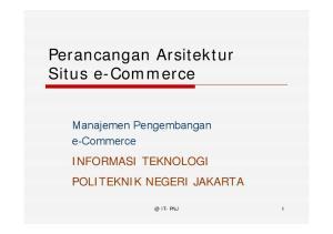 Perancangan Arsitektur Situs e-commerce