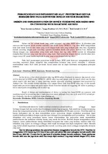 PERANCANGAN DAN IMPLEMENTASI ALAT PENYORTIRAN KOTAK BERBASIS RFID PADA KONVEYOR DENGAN METODE SEARCHING