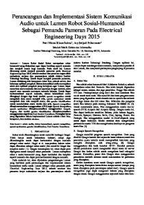 Perancangan dan Implementasi Sistem Komunikasi Audio untuk Lumen Robot Sosial-Humanoid Sebagai Pemandu Pameran Pada Electrical Engineering Days 2015