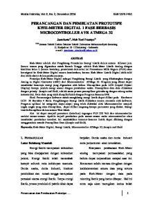 PERANCANGAN DAN PEMBUATAN PROTOTIPE KWH-METER DIGITAL 1 FASE BERBASIS MICROCONTROLLER AVR ATMEGA 32
