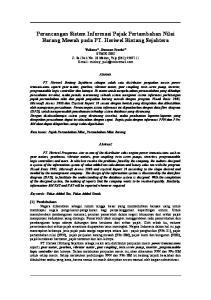 Perancangan Sistem Informasi Pajak Pertambahan Nilai Barang Mewah pada PT. Heriwel Bintang Sejahtera