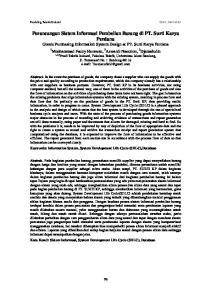 Perancangan Sistem Informasi Pembelian Barang di PT. Surti Karya Perdana Goods Purchasing Information System Design at PT. Surti Karya Perdana