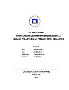 PERANCANGAN SISTEM INFORMASI PERSEDIAAN BARANG PADA PT. GUGAH PERKASA RIPTA SEMARANG