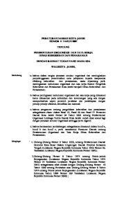PERATURAN DAERAH KOTA JAMBI NOMOR 5 TAHUN 2007 TENTANG PEMBENTUKAN ORGANISASI DAN TATA KERJA DINAS KEBERSIHAN DAN PEMAKAMAN