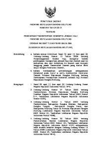 PERATURAN DAERAH PROVINSI KEPULAUAN BANGKA BELITUNG NOMOR 6 TAHUN 2013 TENTANG