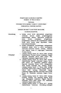 PERATURAN GUBERNUR BANTEN NOMOR 24 TAHUN 2012
