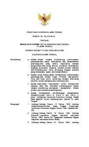 PERATURAN GUBERNUR JAWA TENGAH NOMOR 52 TAHUN 2016 TENTANG SINGLE DATA SYSTEM UNTUK PEMBANGUNAN DAERAH DI JAWA TENGAH