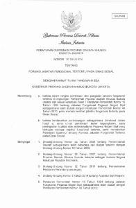 PERATURAN GUBERNUR PROVINSI DAERAH KHUSUS IBUKOTA JAKARTA NOMOR 120 TAHUN 2014 TENTANG FORMASI JABATAN FUNGSIONAL TERTENTU PADA DINAS SOSIAL