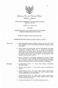 PERATURAN GUBERNUR PROVINSI DAERAH KHUSUS IBUKOTA JAKARTA NOMOR 19 TAHUN 2012 TENTANG