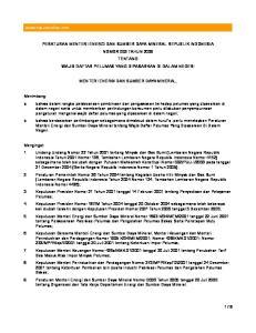 PERATURAN MENTERI ENERGI DAN SUMBER DAYA MINERAL REPUBLIK INDONESIA NOMOR 053 TAHUN 2006 TENTANG WAJIB DAFTAR PELUMAS YANG DIPASARKAN DI DALAM NEGERI
