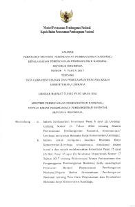 Peraturan Menteri Perencanaan Pembangunan. Undang Nomor 2r Tahun 2OO4 tentang Sistem. bahvva untuk menjamitt kualitas Rencana Kerja